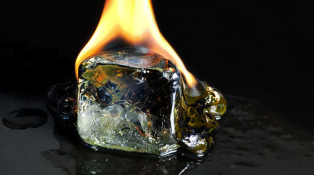 ice burning and melting down